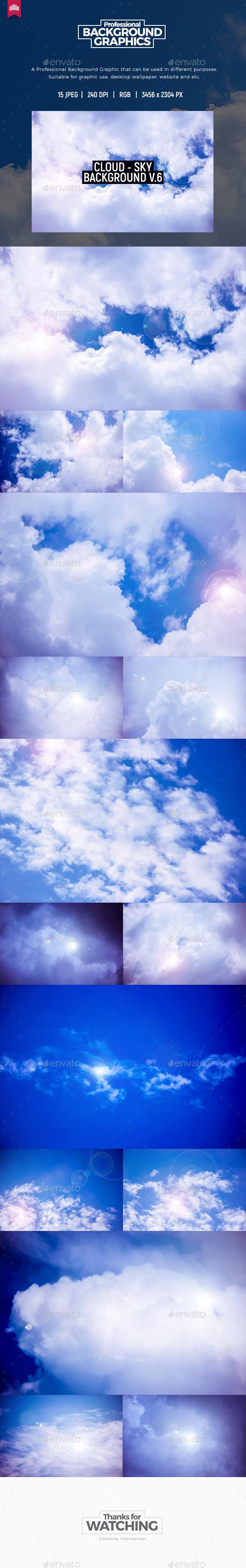 Cloud - Sky Background V.6 - Nature Backgrounds
