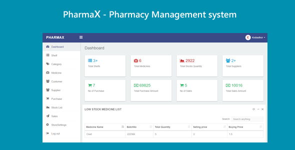 PharmaX - Pharmacy management System C# ASP.NET MVC - CodeCanyon Item for Sale
