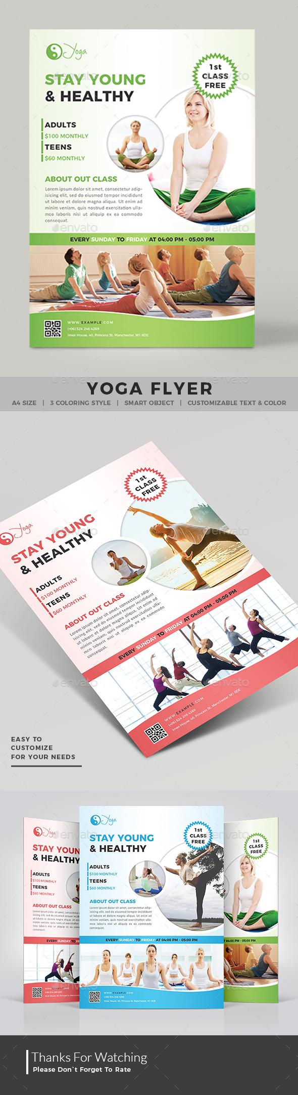 Yoga Flyer - Commerce Flyers