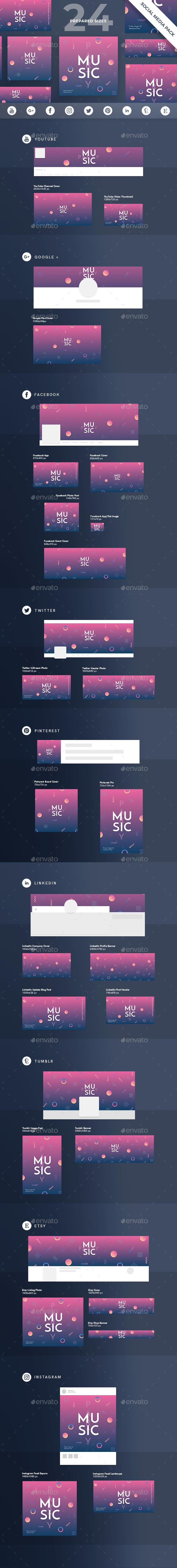 Music Party Social Media Pack - Miscellaneous Social Media
