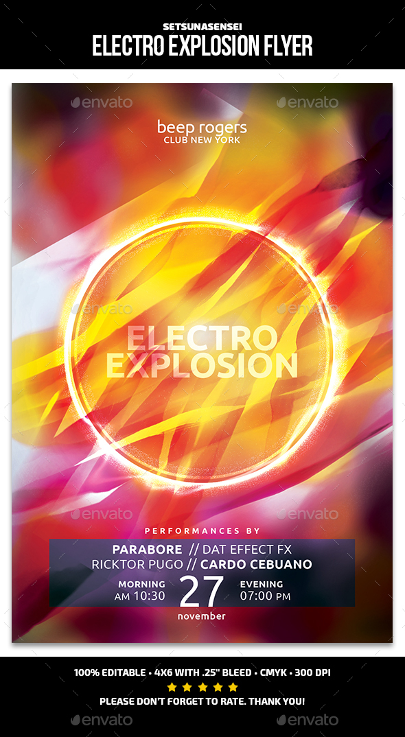 Electro Explosion Flyer - Events Flyers