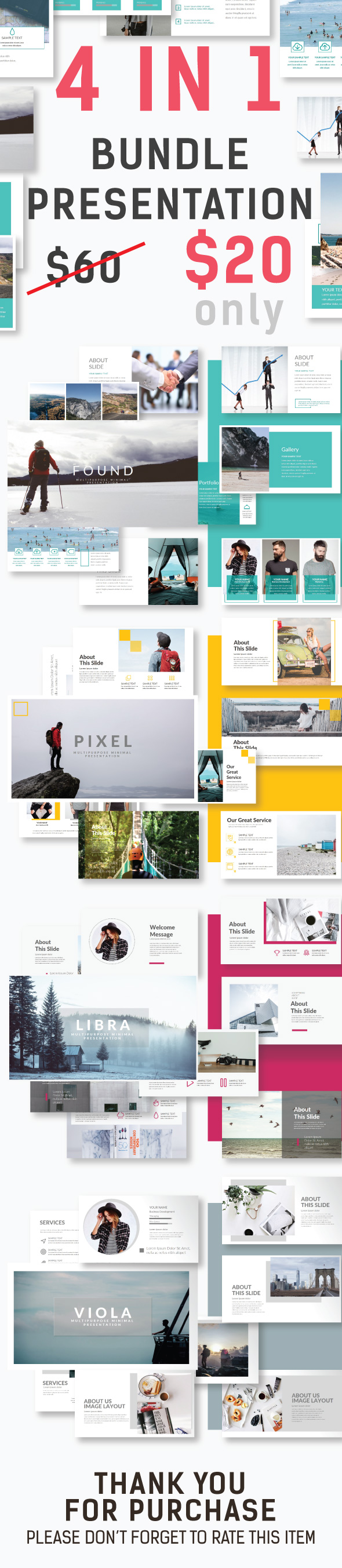 Bundle Presentation 4 in 1 - Creative PowerPoint Templates