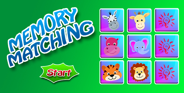 Animals Matching Game - CodeCanyon Item for Sale