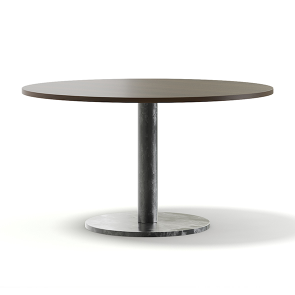 Round Wood and Metal Table 3D Model - 3DOcean Item for Sale