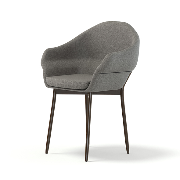 Grey Fabric Chair 3D Model - 3DOcean Item for Sale