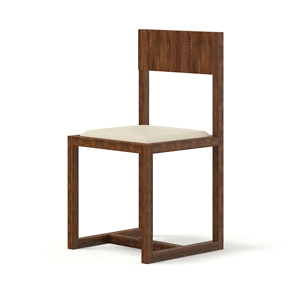 Wooden Chair 3D Model - 3DOcean Item for Sale