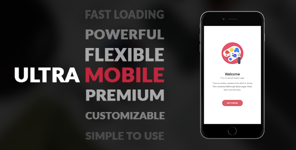 UltraMobile | PhoneGap & Cordova Mobile App - CodeCanyon Item for Sale