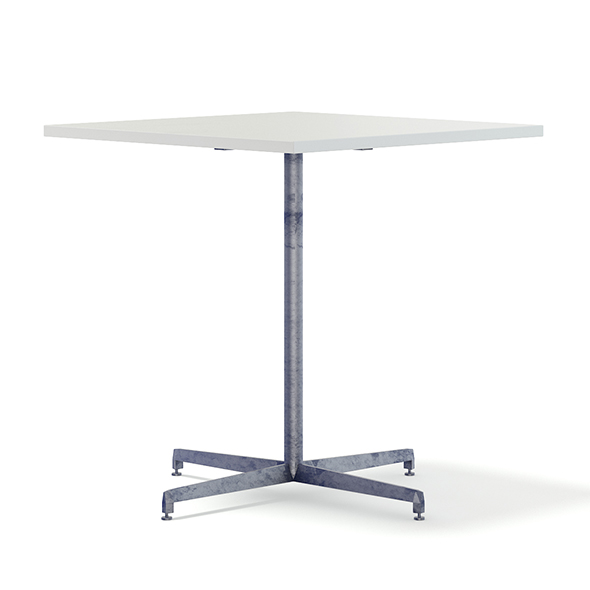 Square Metal Table 3D Model - 3DOcean Item for Sale