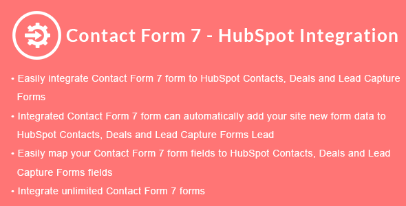 Contact Form 7 - HubSpot Integration - CodeCanyon Item for Sale