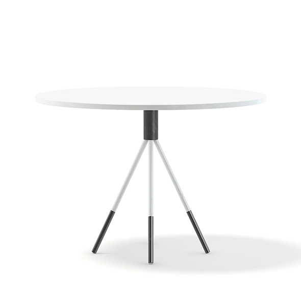 White Round Table 3D Model - 3DOcean Item for Sale
