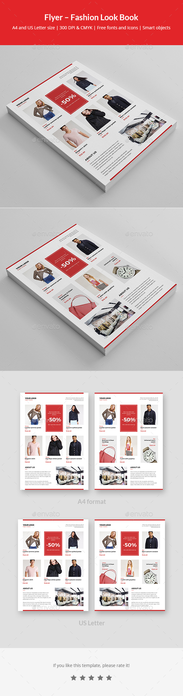 Flyer – Fashion Look Book - Commerce Flyers