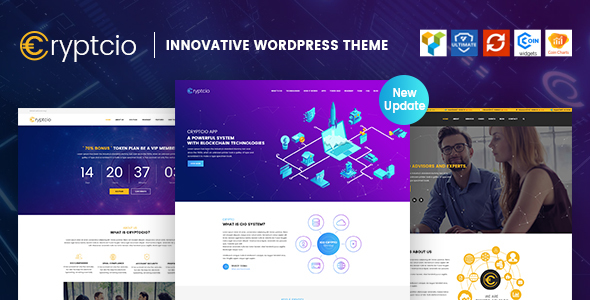Cryptcio - Innovative WordPress Theme - Technology WordPress