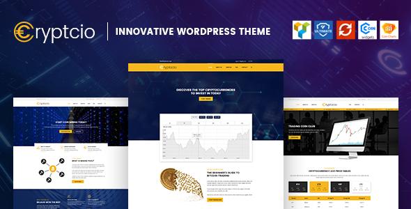 Cryptcio - Innovative WordPress Theme by ArrowHiTech   ThemeForest