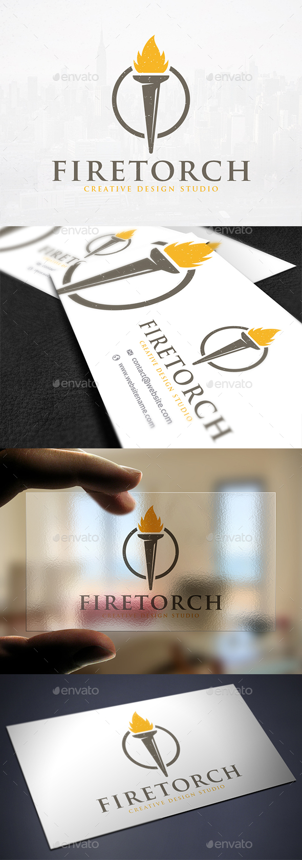 Torch Light Logo Template - Objects Logo Templates