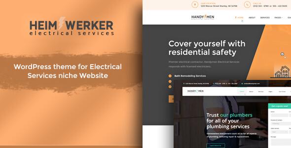 Heimwerker - Electricians WordPress Theme - Business Corporate