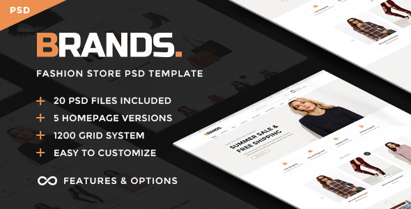 Brands - Commerce PSD Template - Retail PSD Templates