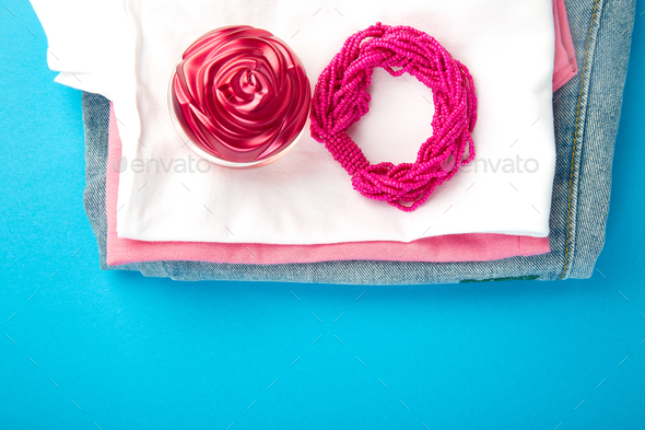 Summer or spring woman or girl outfit. - Stock Photo - Images