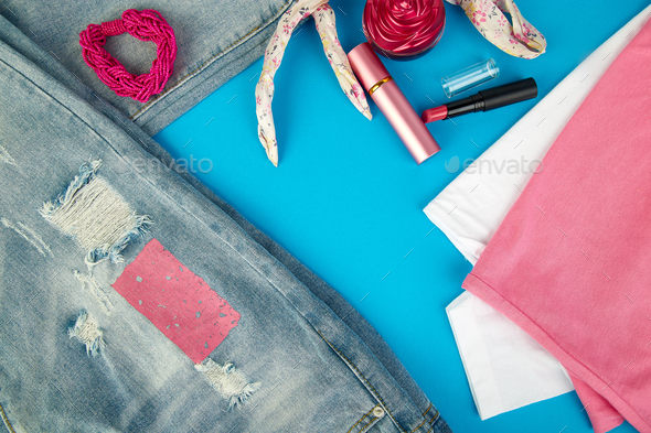 Summer or spring woman or girl outfit - Stock Photo - Images