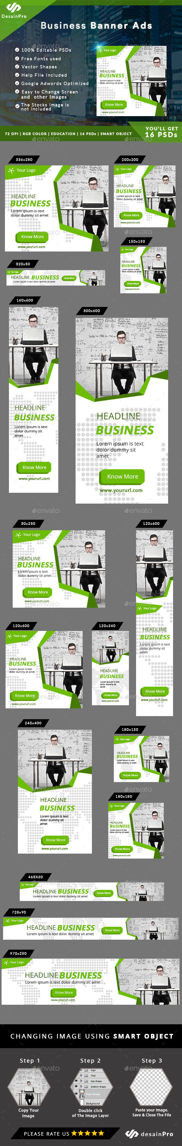 Business Corporate Ad Banner - AR - Banners & Ads Web Elements