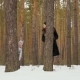 Young Woman with Her Daughter Peers Out of the Tree in Winter Forest - VideoHive Item for Sale