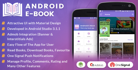 Android E-Book App with Material Design - CodeCanyon Item for Sale