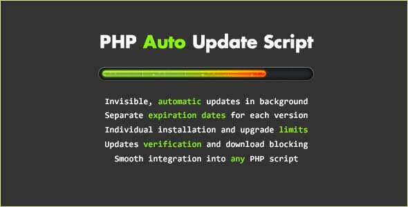 PHP Auto Update Script - CodeCanyon Item for Sale