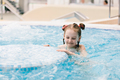 Young girl swimming in a hot tub. - PhotoDune Item for Sale