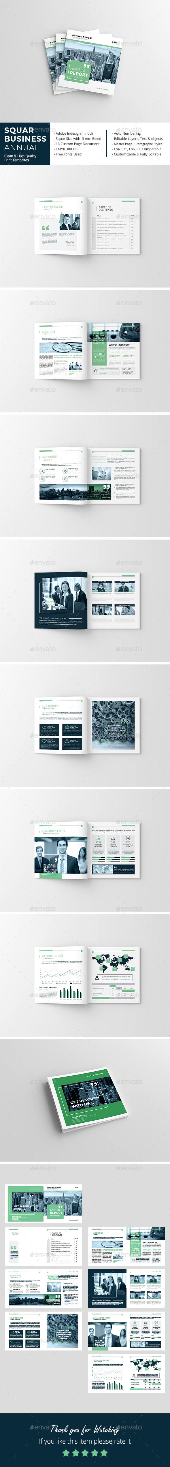 Squar Business Annual Report - Corporate Brochures