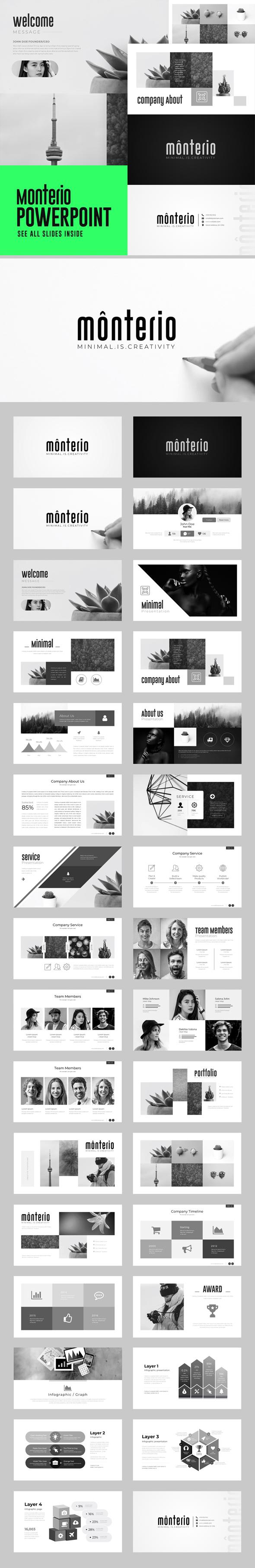 Monterio - Multipurpose PowerPoint Template - Business PowerPoint Templates