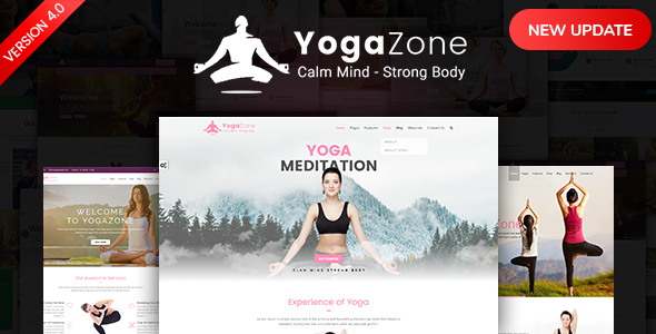 YogaZone: Yoga, Fitness & Meditation Mobile Responsive Bootstrap Html Template - Health & Beauty Retail