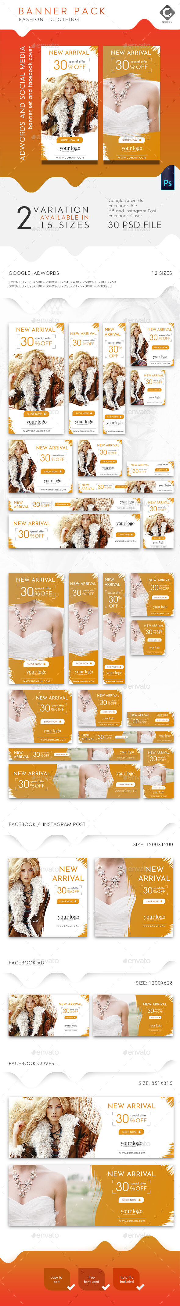 Fashion Banner Pack - Banners & Ads Web Elements