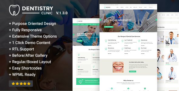 Dentistry – Dental Clinic & Dentist WordPress Theme - Health & Beauty Retail