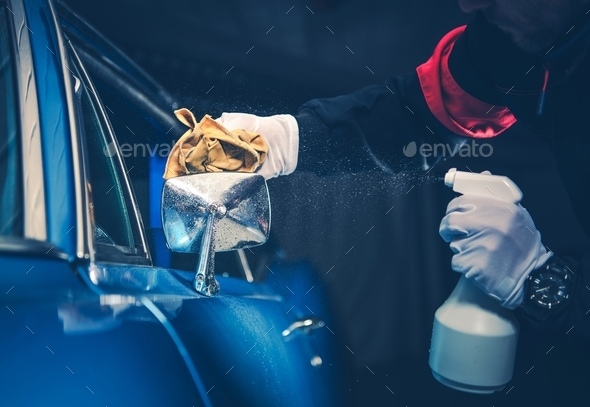 Classic Car Detailing Cleaning - Stock Photo - Images