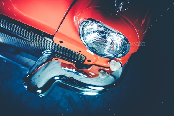 Classic Car Details - Stock Photo - Images