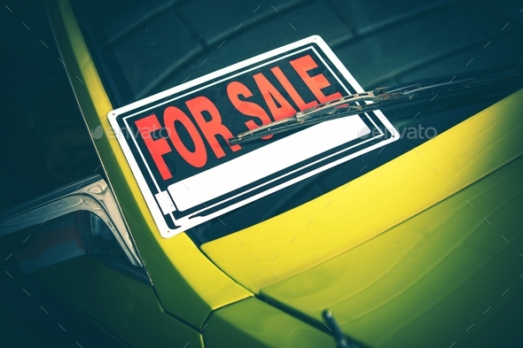 Car For Sale by Owner - Stock Photo - Images