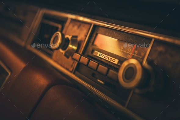 Vintage Classic Car Radio - Stock Photo - Images
