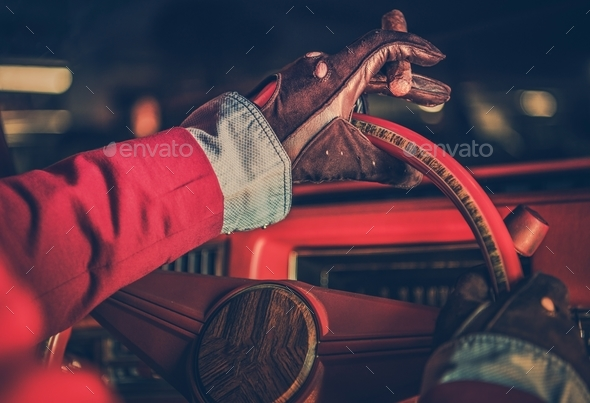 Classic Car Driver - Stock Photo - Images