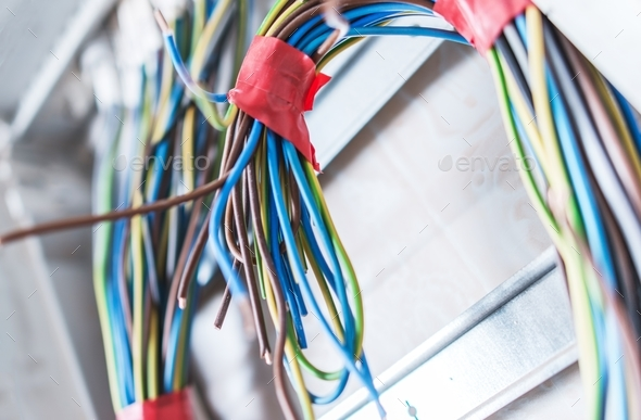 Residential Electrical Cables - Stock Photo - Images