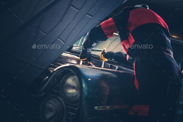 Classic Car Restoration Fix - Stock Photo - Images