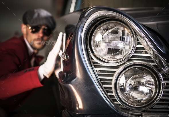Classic Cars Enthusiasts - Stock Photo - Images