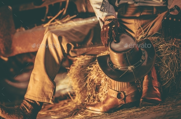 Wester Wear Cowboy - Stock Photo - Images