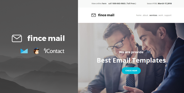 Fince Mail - Responsive E-mail Template + Online Access - Email Templates Marketing