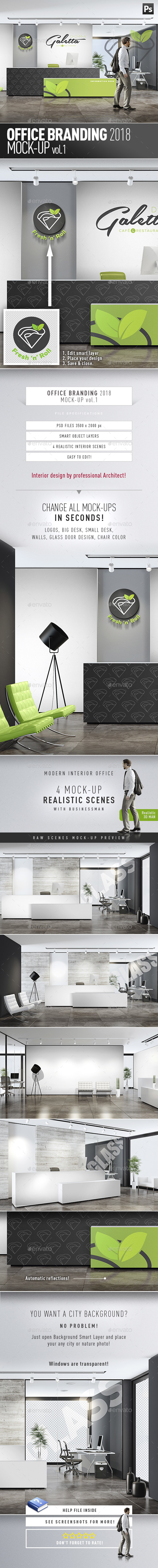 Office Branding Mock-up vol.1 - Product Mock-Ups Graphics
