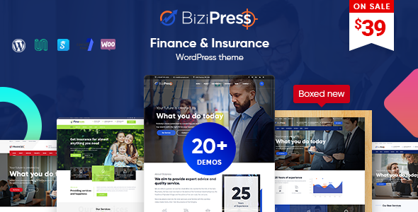 BiziPress - Finance & Insurance WordPress Theme