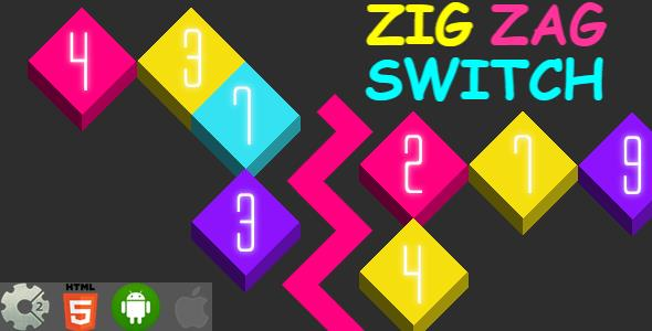 Zig Zag Switch - HTML5 Game + Mobile Version! (Construct-2 CAPX) - CodeCanyon Item for Sale
