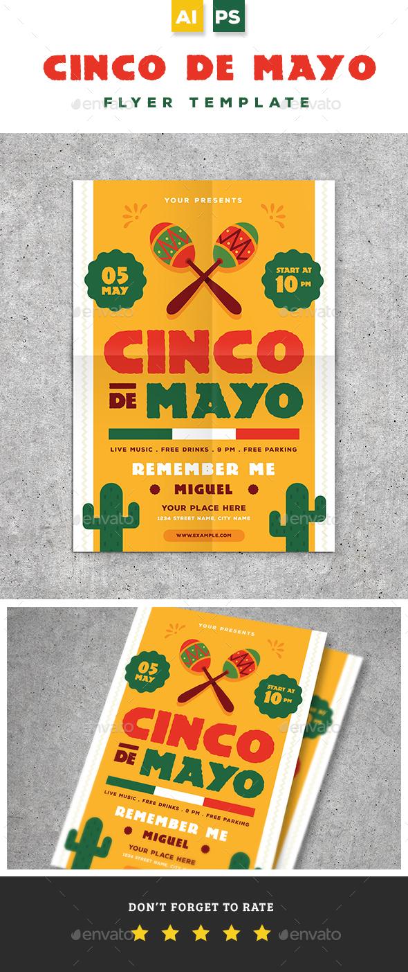 Cinco De Mayo Flyer - Holidays Events