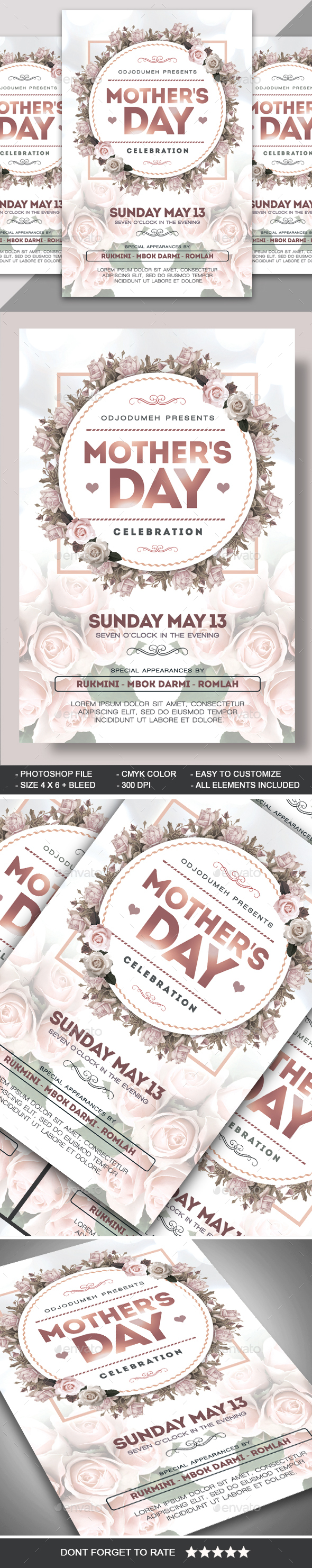 Mothers Day Flyer - Events Flyers