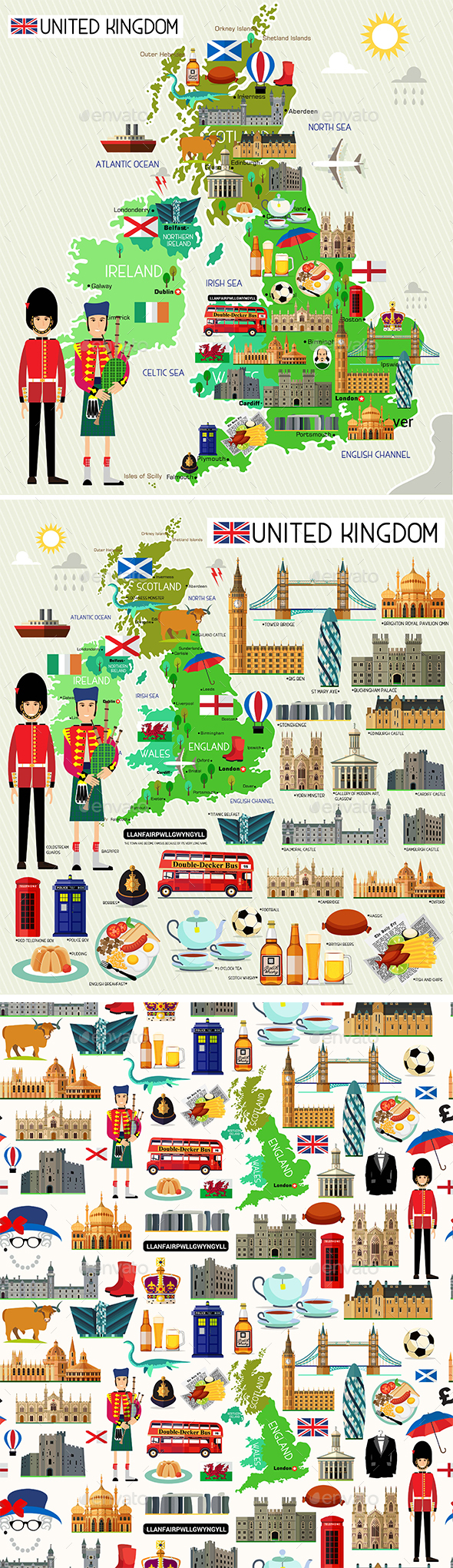 United Kingdom Travel Set - Travel Conceptual