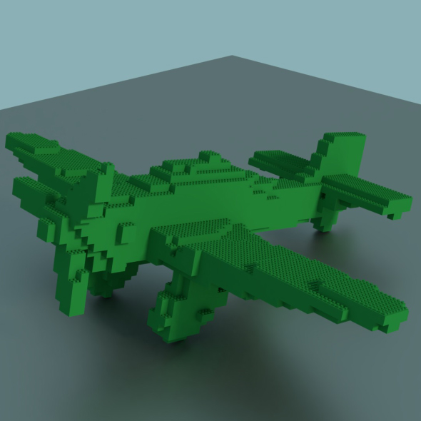 Lego Plane - 3DOcean Item for Sale