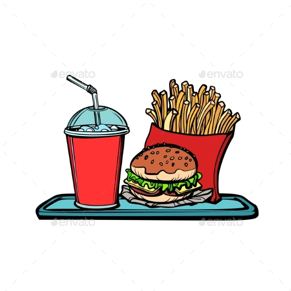 Fast Food Restaurant - Food Objects